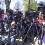 As SCOTUS arguments end cameras prepare for news conference with pro-ObamaCare supporters