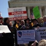 Tea Party Patriots news conference in front of SCOTUS